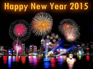 Happy New Year 2015 HD Colorful City Wallpaper