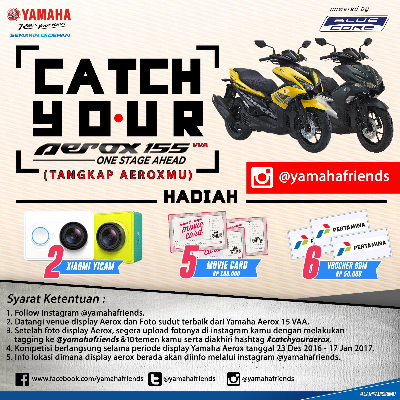 Yamaha Jatim Rilis Program Catch Your Aerox (Tangkap Aeroxmu). Banyak Hadiah Menariknya