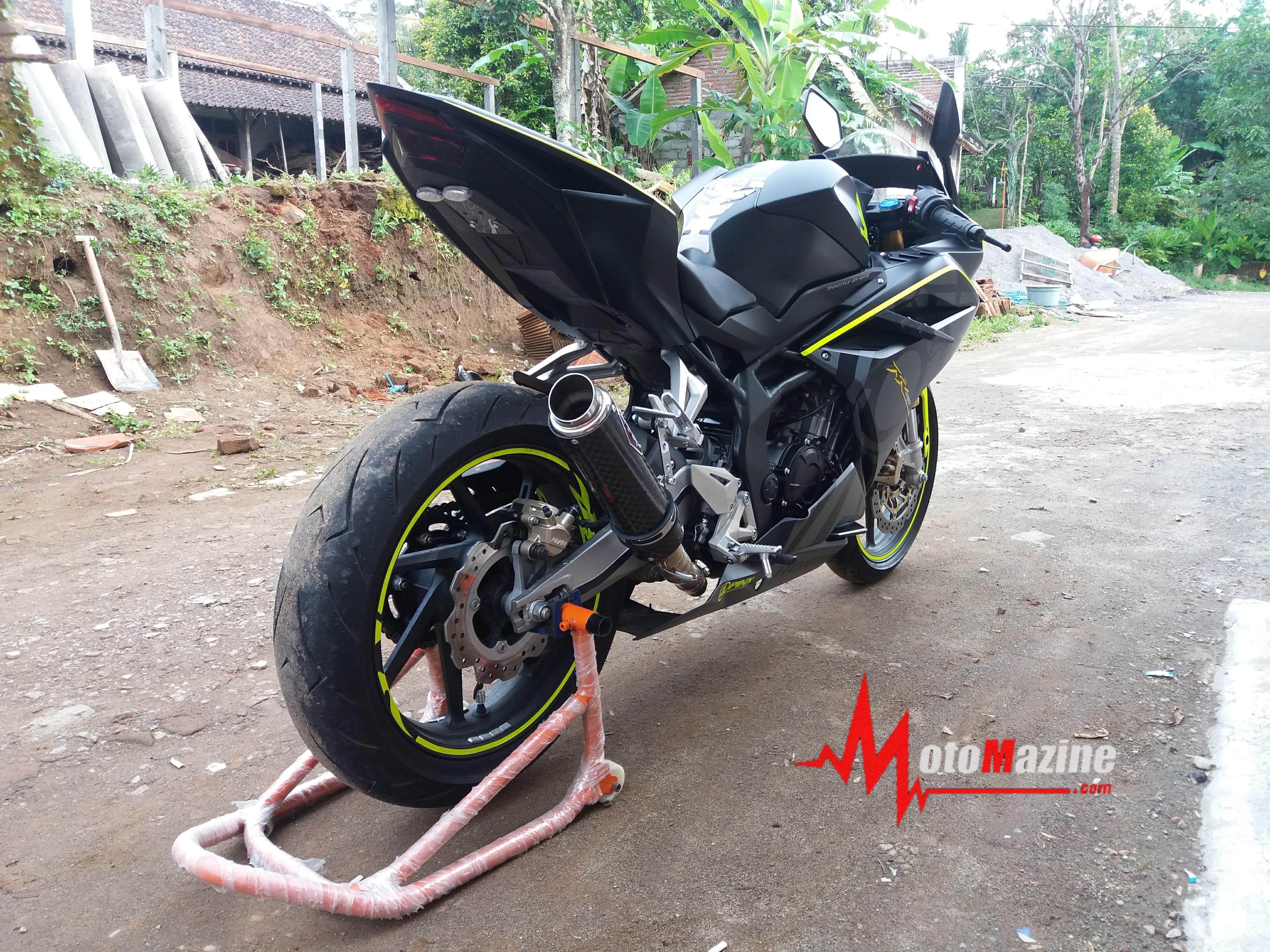 Modifikasi All New Honda CBR250RR Ala Yamaha M1 Rossi 2013 Awas