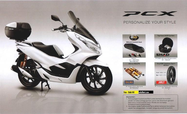 Daftar-Custom-Part-After-Market-buat-dandani-Honda-PCX-150-Indonesia-tahun-2018-2