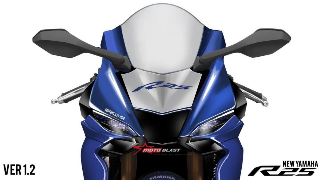 Kembali Muncul Renderan New Yamaha R25 Facelift. Pakai Fairing alaM1?