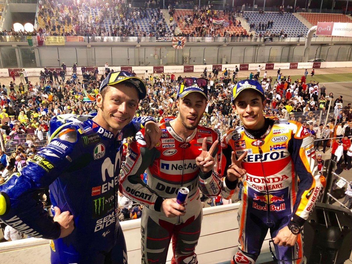 Hasil Race MotoGP Qatar 2018: Dovi Kembali Rebut Juara dari Marquez, Rossi keTiga