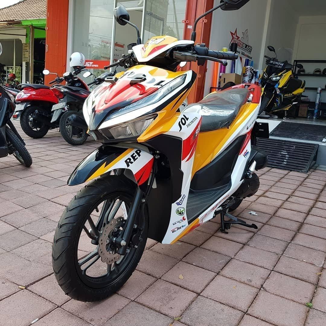 All New Honda Vario 150 Berseragam Repsol Racun Modif Decal Nih