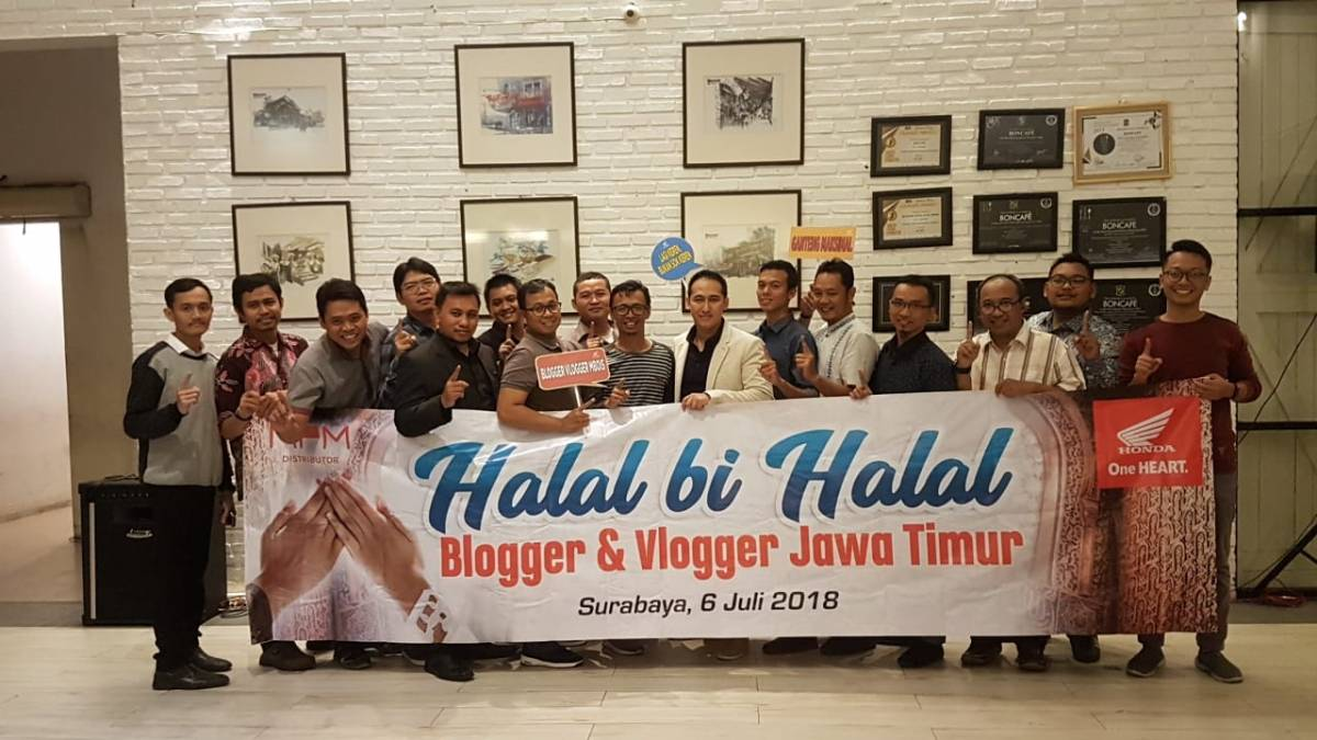 Halal Bihalal Blogger Vlogger Jatim Bareng MPM Distributor. Ciptakan Kekeluargaan dalamKebersamaan
