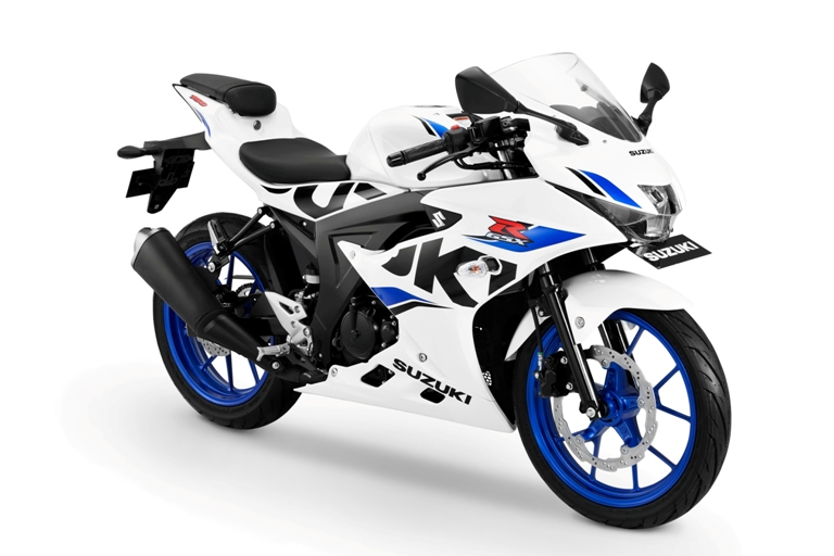 Suzuki GSX-R150 ---- Brilliant White-CW Vigor Blue